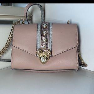 Aldo Pink Glitter Miny Pearl Shoulder Bag